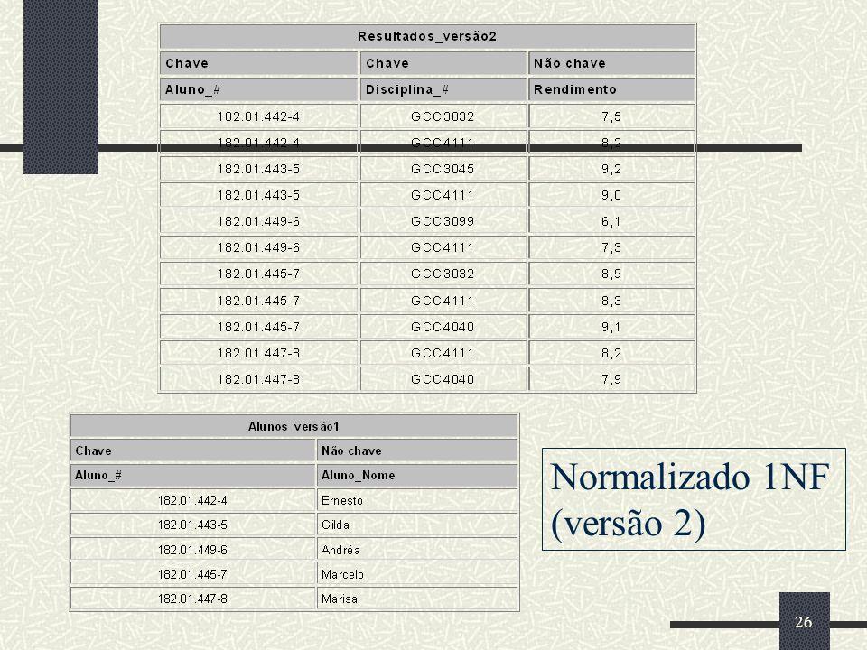 Normalizado 1NF (versão 2)