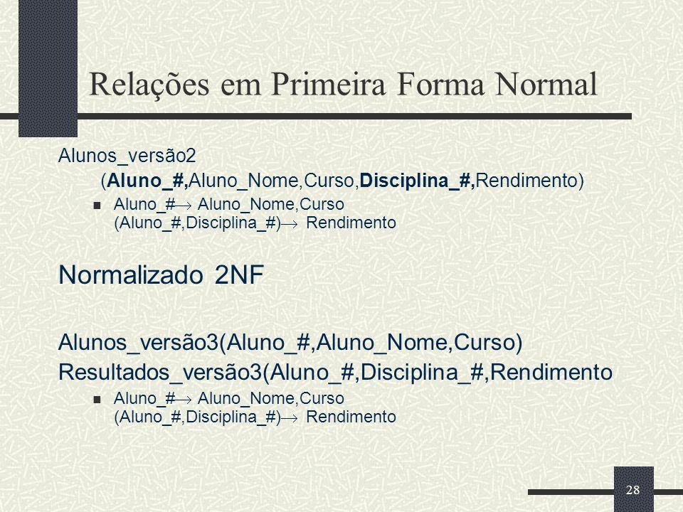 Relações em Primeira Forma Normal