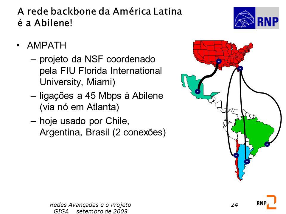 A rede backbone da América Latina é a Abilene!