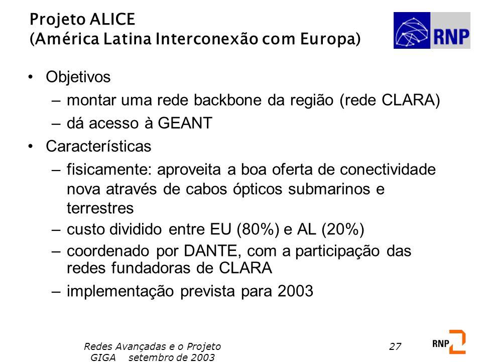 Projeto ALICE (América Latina Interconexão com Europa)