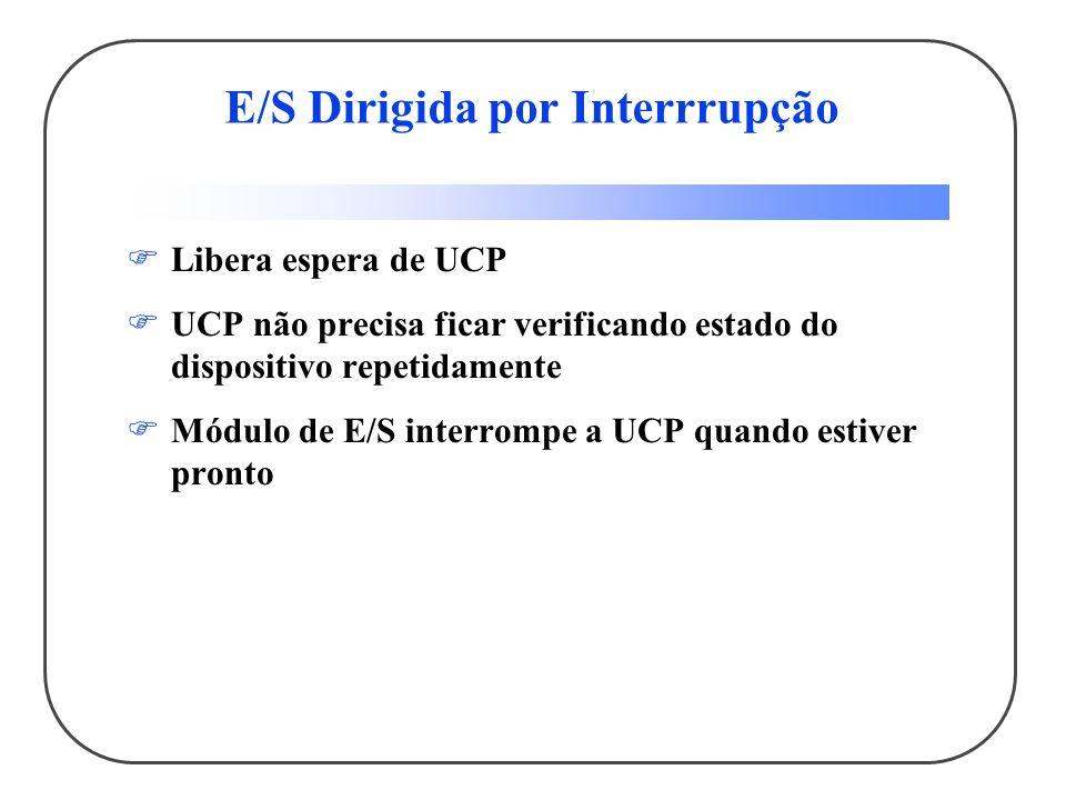E/S Dirigida por Interrrupção