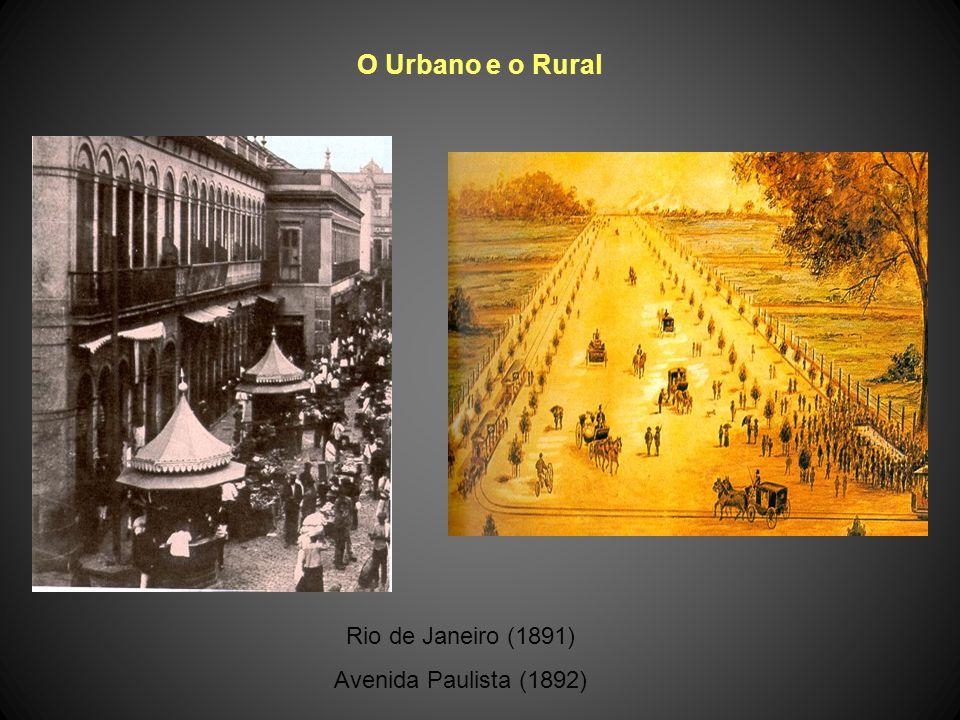 O Urbano e o Rural Rio de Janeiro (1891) Avenida Paulista (1892)