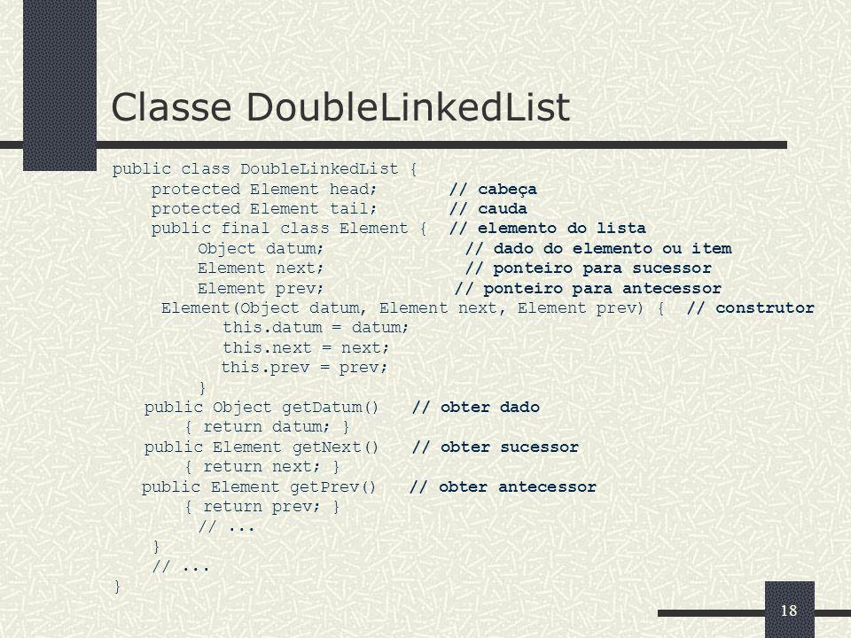 Classe DoubleLinkedList