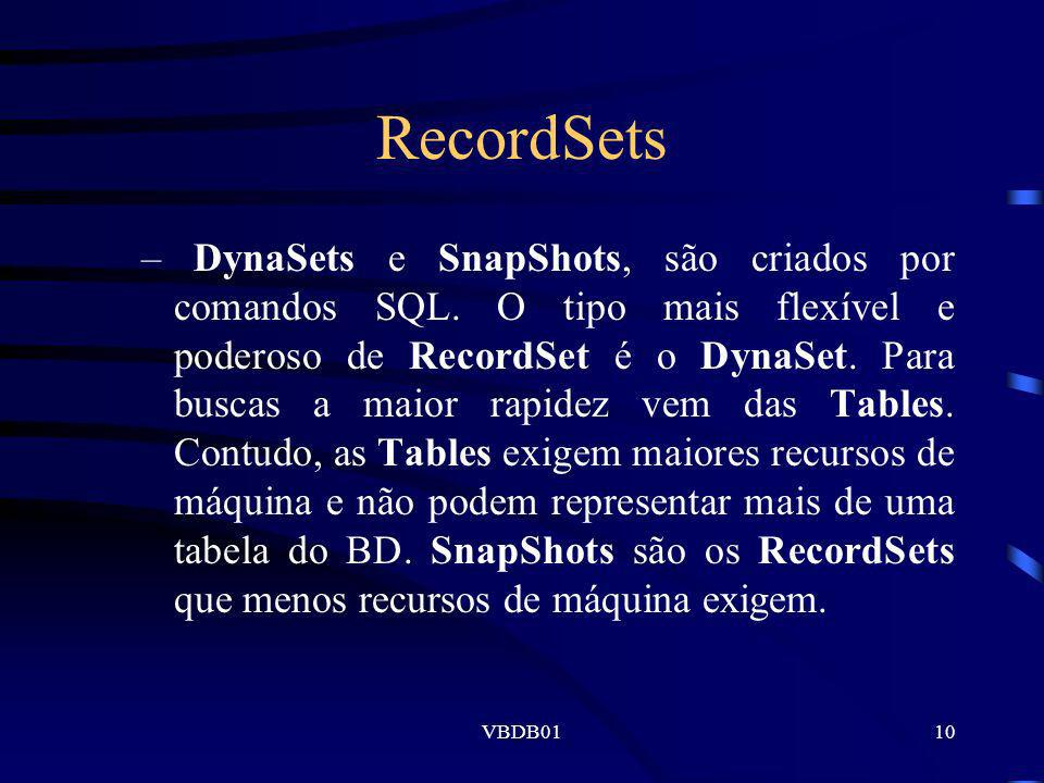 RecordSets