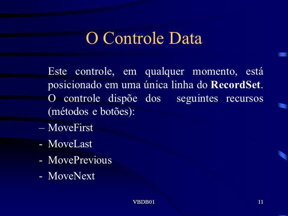 O Controle Data