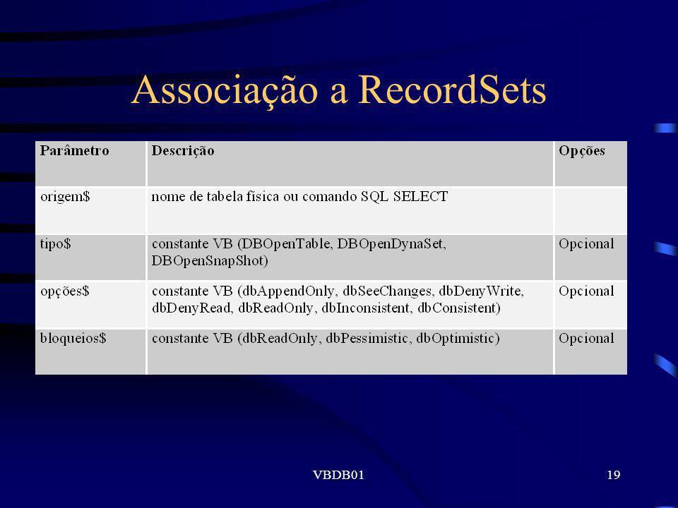 Associação a RecordSets
