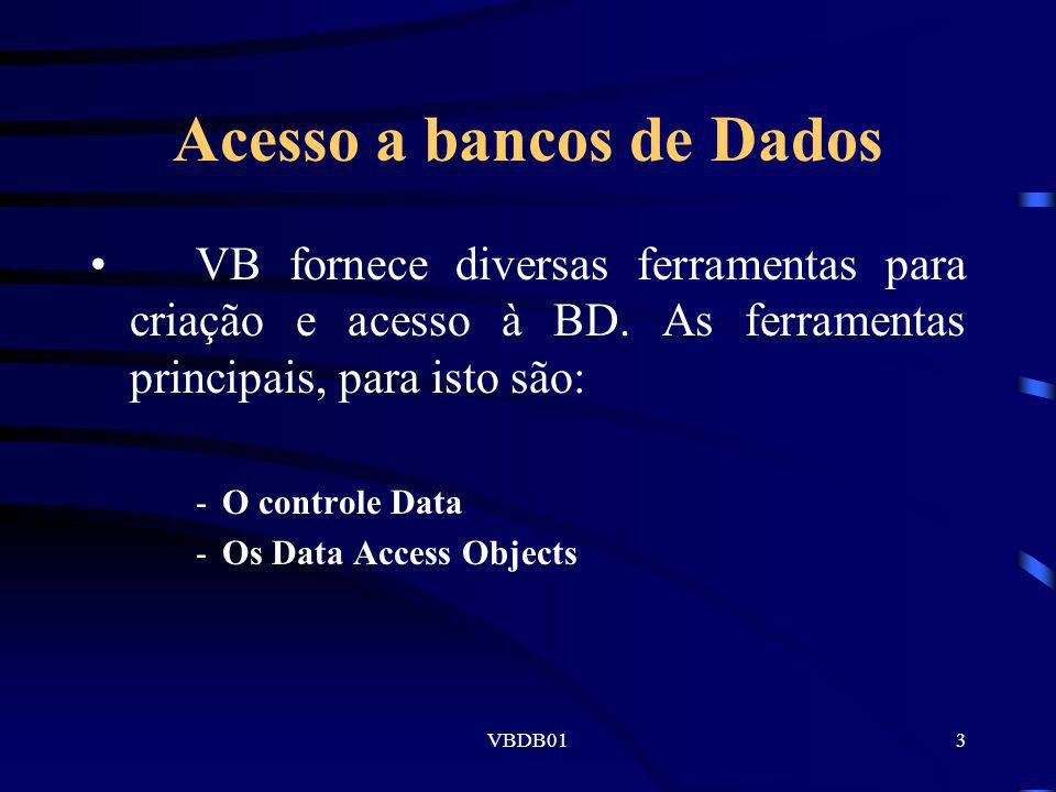 Acesso a bancos de Dados