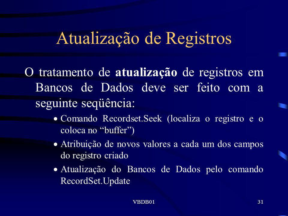 Atualização de Registros
