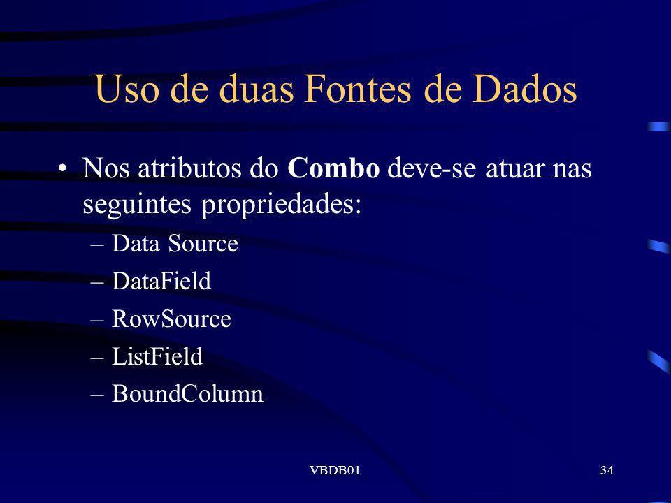 Uso de duas Fontes de Dados