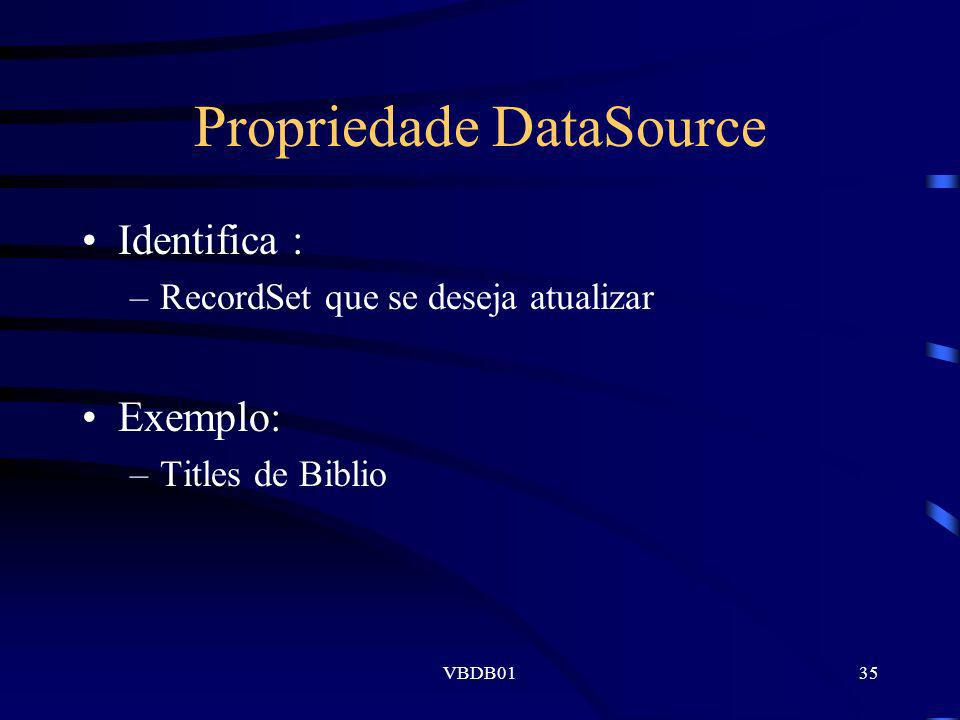 Propriedade DataSource