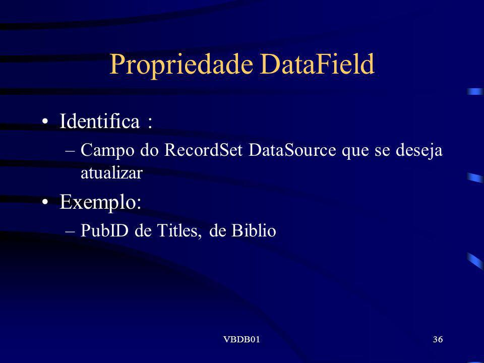 Propriedade DataField