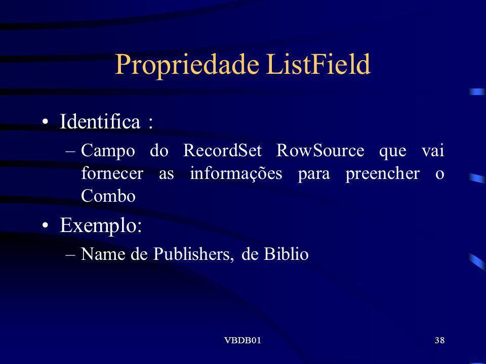 Propriedade ListField