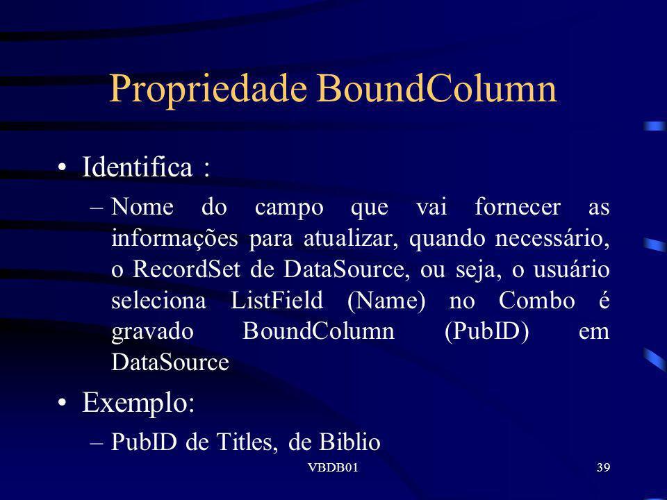 Propriedade BoundColumn