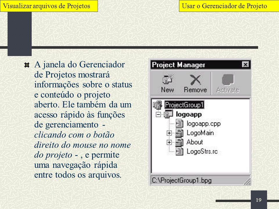 Visualizar arquivos de Projetos