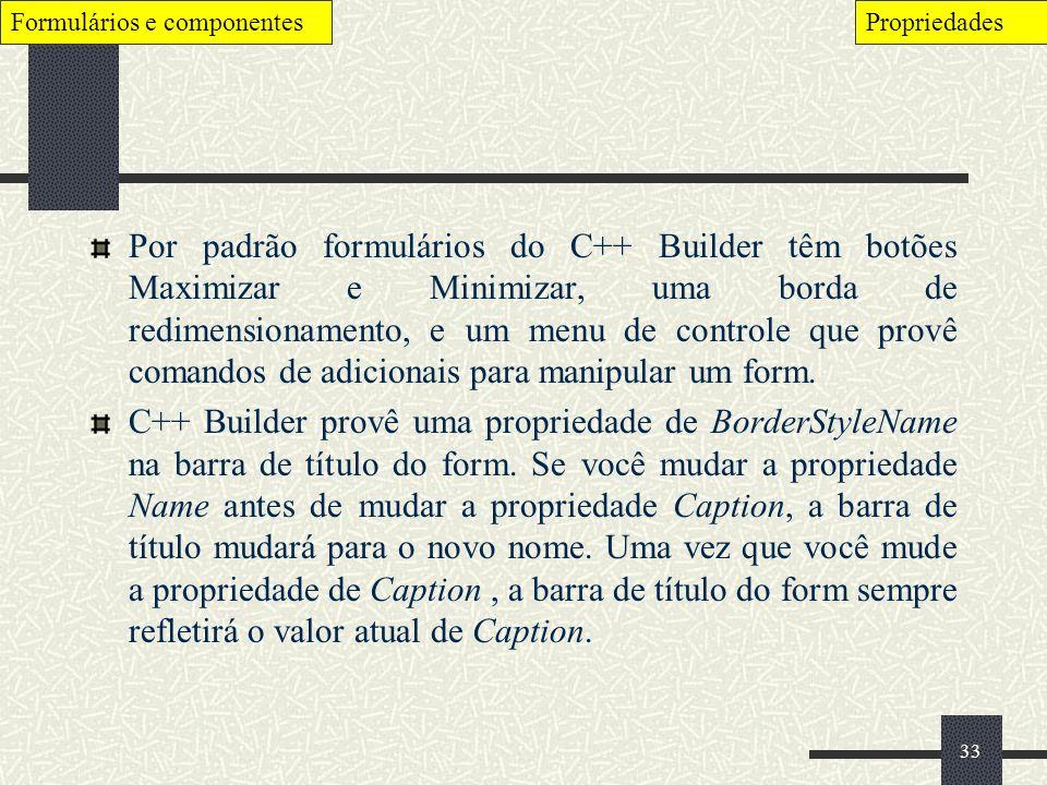Formulários e componentes