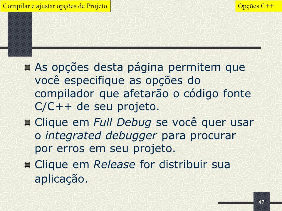 Clique em Release for distribuir sua aplicação.