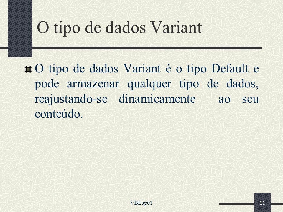 O tipo de dados Variant