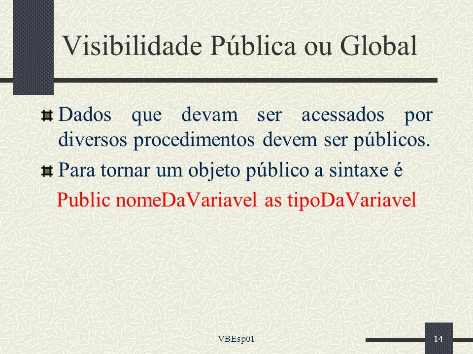 Visibilidade Pública ou Global