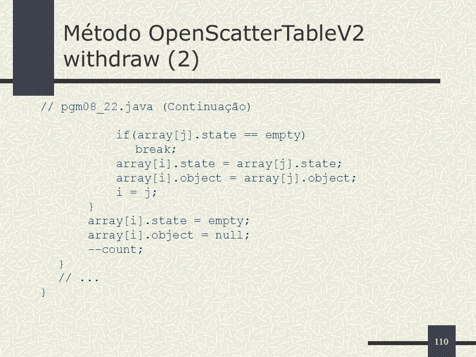 Método OpenScatterTableV2 withdraw (2)