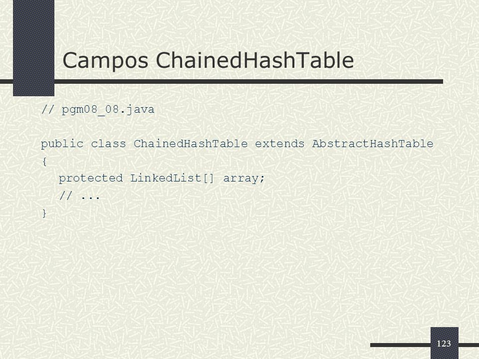 Campos ChainedHashTable