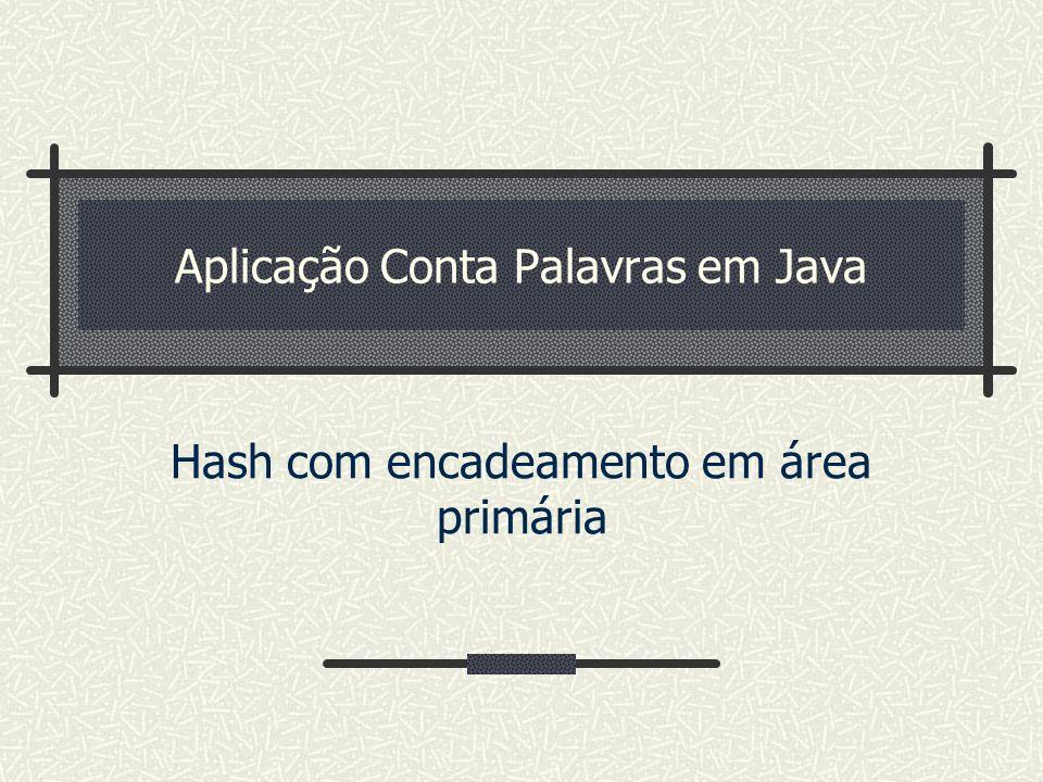 Aplicação Conta Palavras em Java