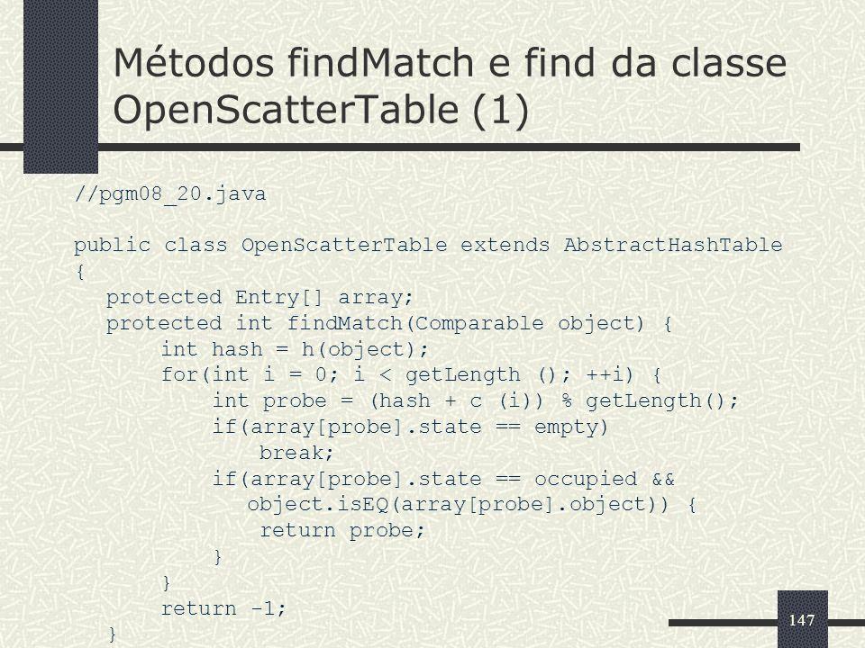 Métodos findMatch e find da classe OpenScatterTable (1)