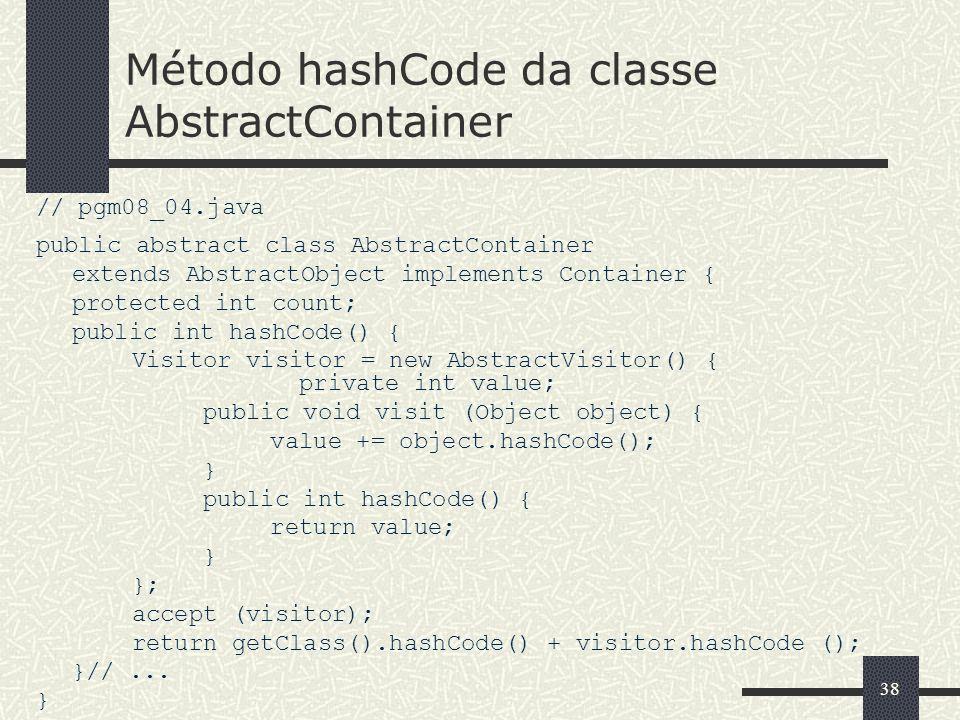 Método hashCode da classe AbstractContainer