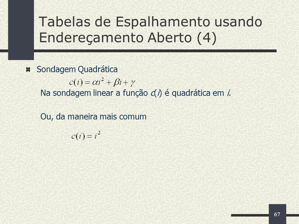 Tabelas de Espalhamento usando Endereçamento Aberto (4)