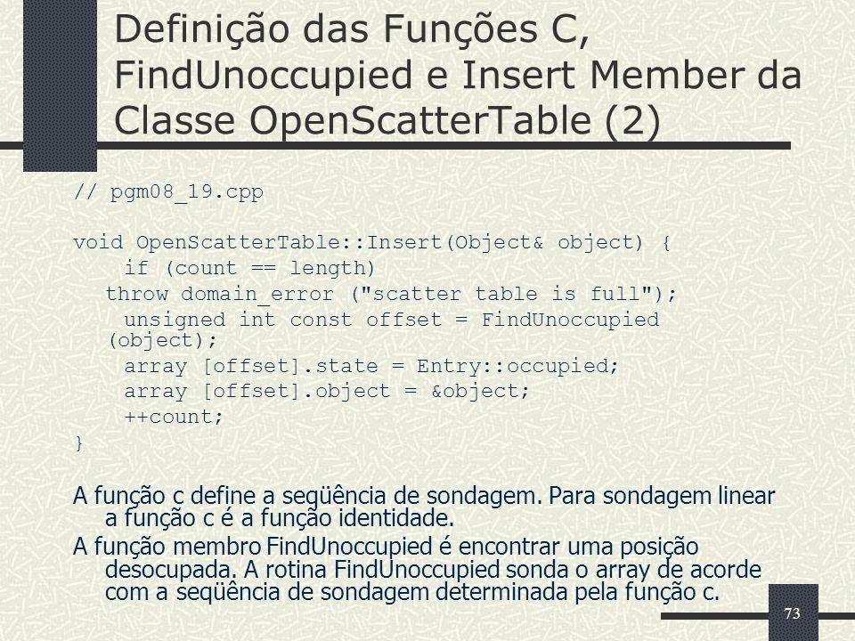 Definição das Funções C, FindUnoccupied e Insert Member da Classe OpenScatterTable (2)
