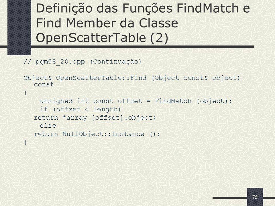 Definição das Funções FindMatch e Find Member da Classe OpenScatterTable (2)