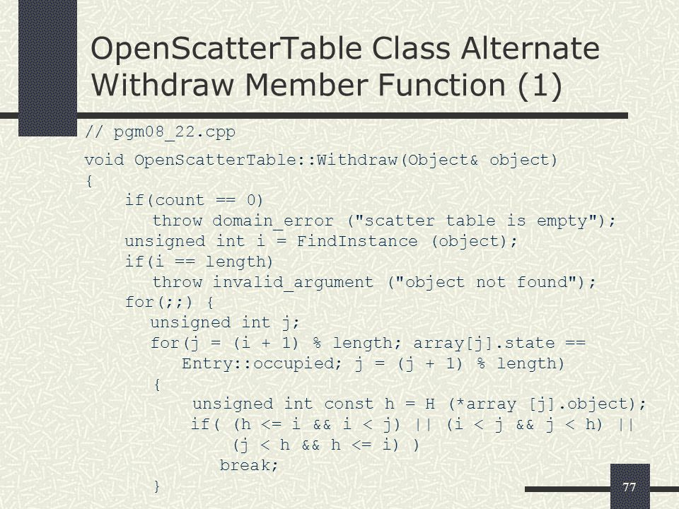 OpenScatterTable Class Alternate Withdraw Member Function (1)