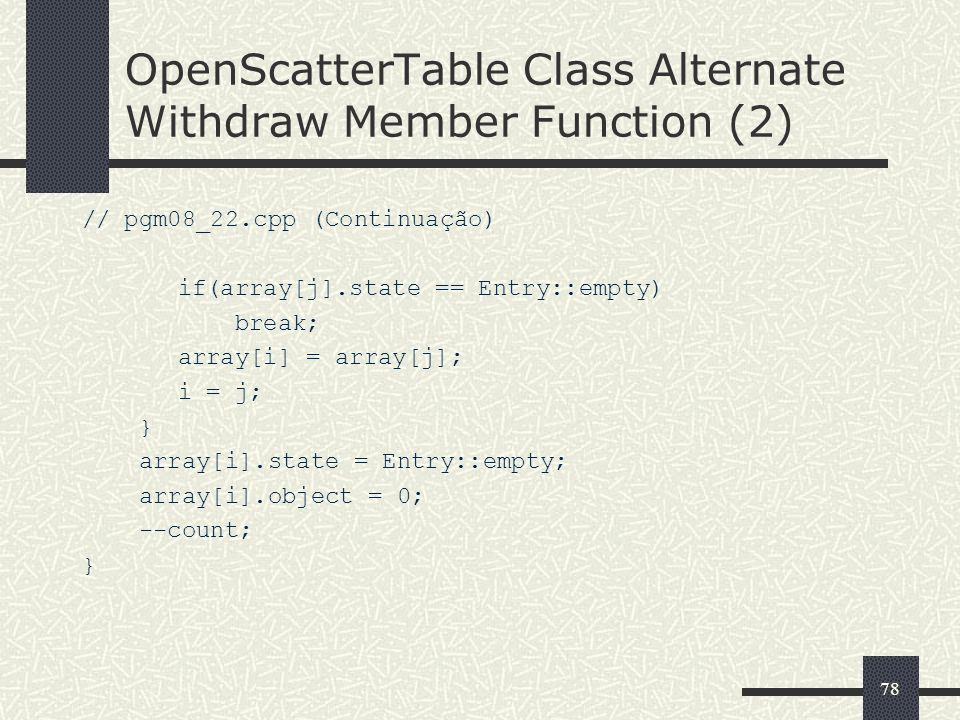 OpenScatterTable Class Alternate Withdraw Member Function (2)