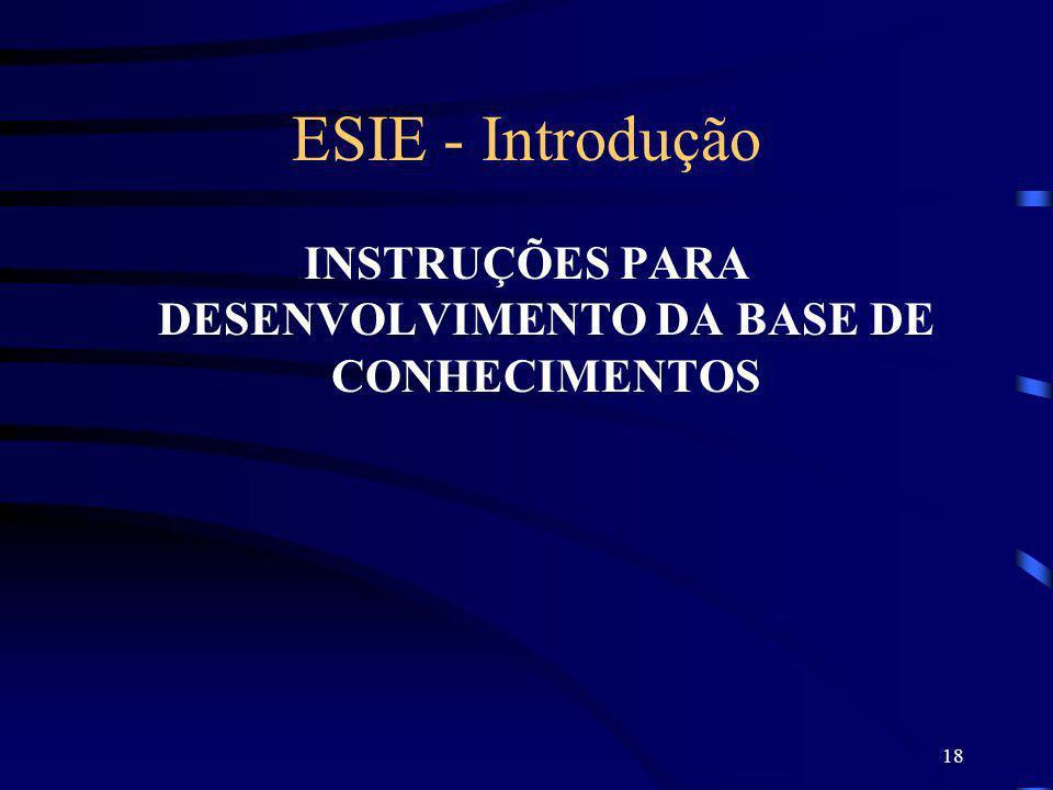 INSTRUÇÕES PARA DESENVOLVIMENTO DA BASE DE CONHECIMENTOS