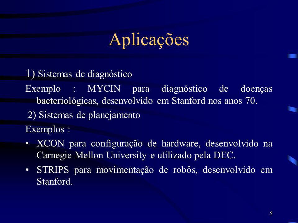 Aplicações 1) Sistemas de diagnóstico