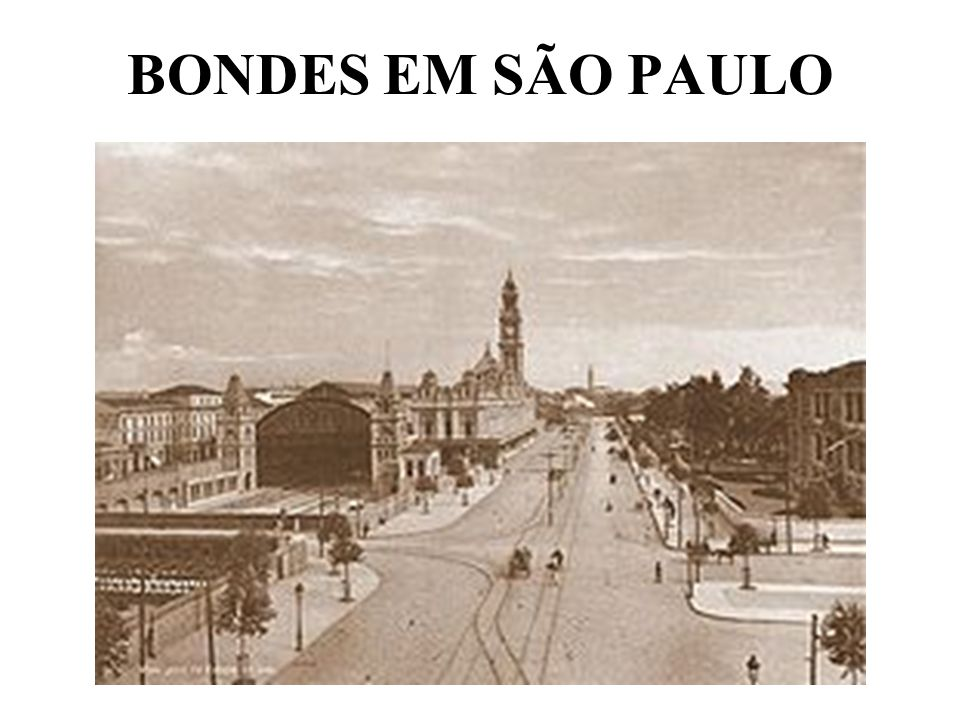 BONDES EM SÃO PAULO