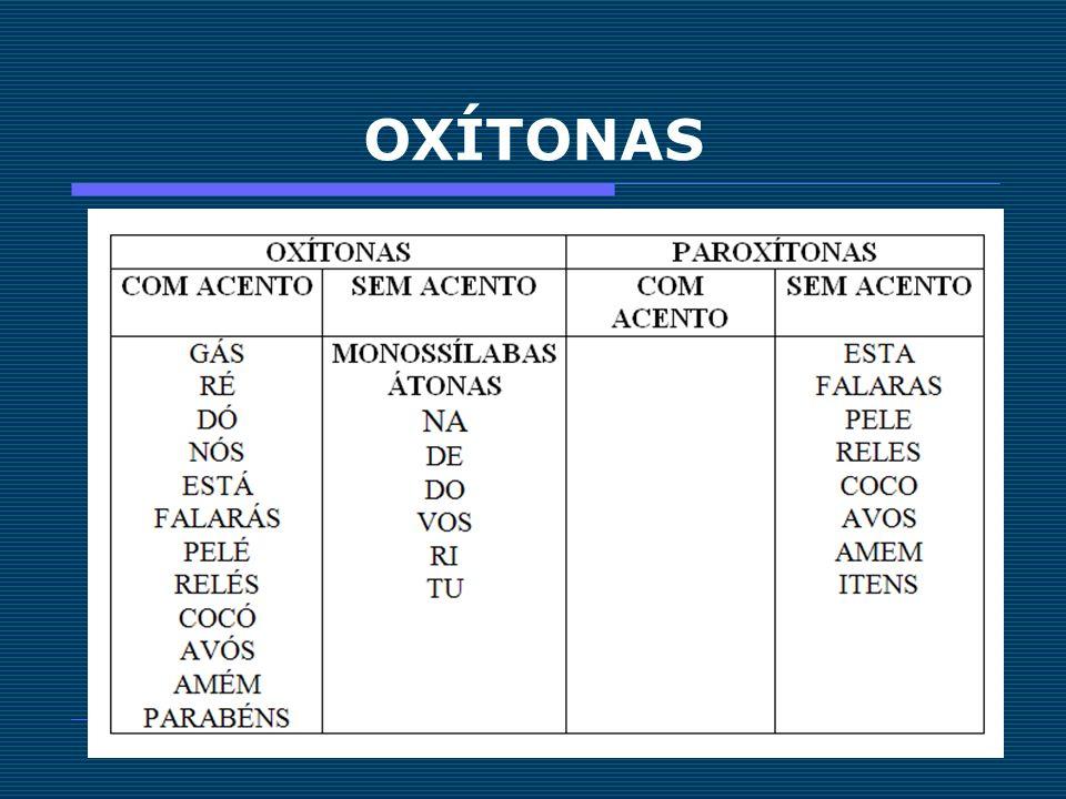OXÍTONAS