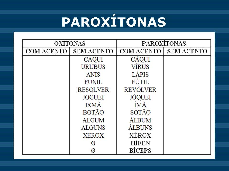 PAROXÍTONAS