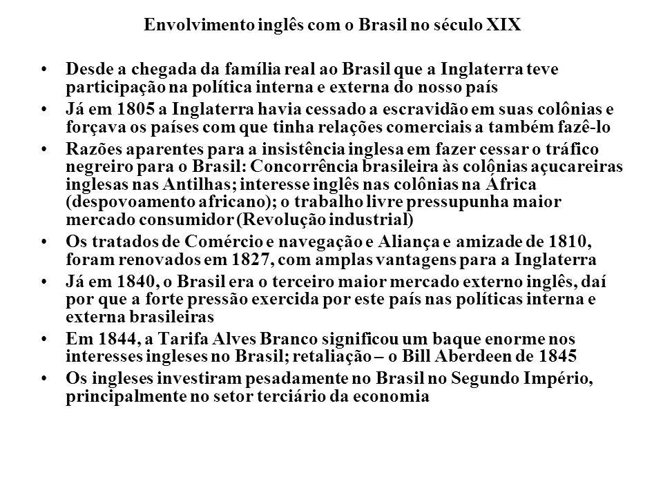 Envolvimento inglês com o Brasil no século XIX