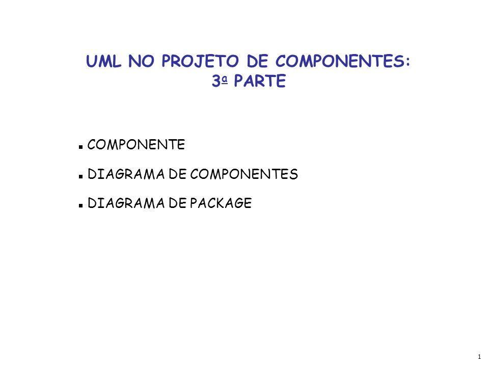 UML NO PROJETO DE COMPONENTES: