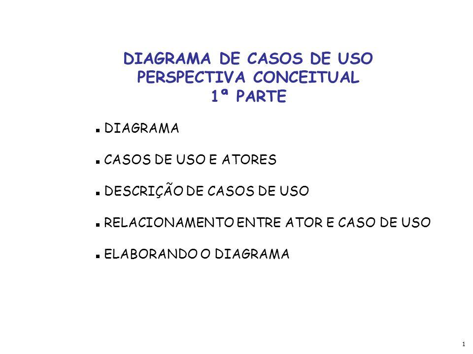 DIAGRAMA DE CASOS DE USO PERSPECTIVA CONCEITUAL