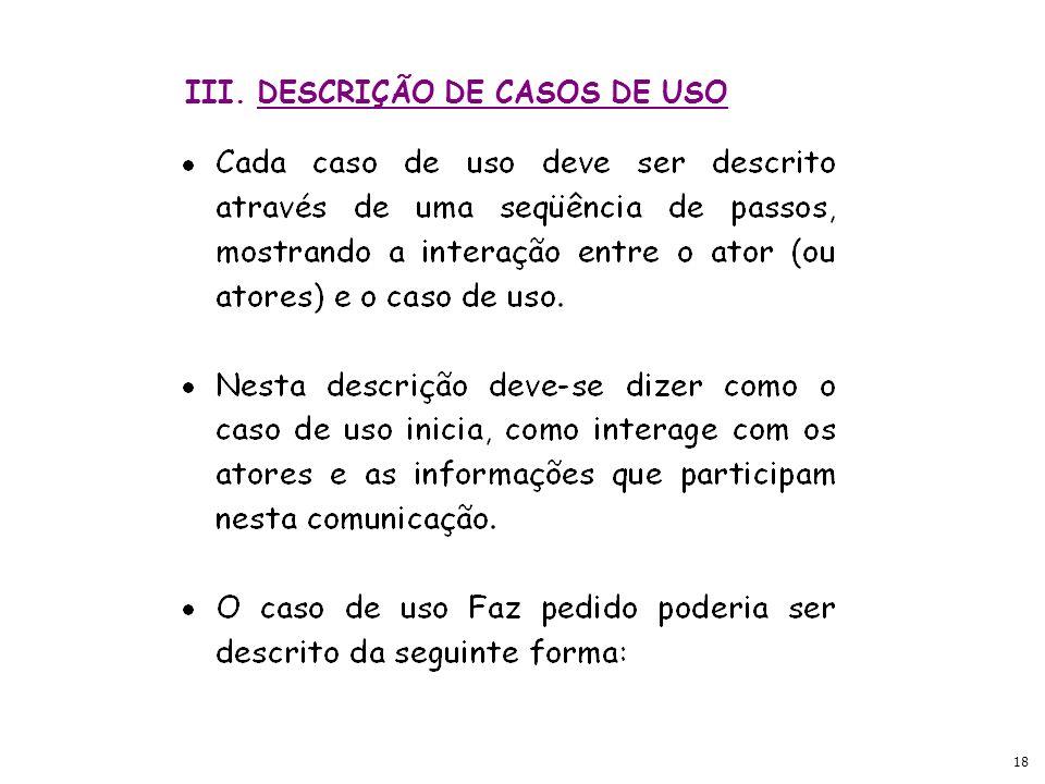 III. DESCRIÇÃO DE CASOS DE USO