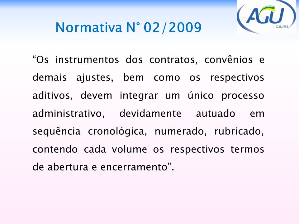Normativa N° 02/2009