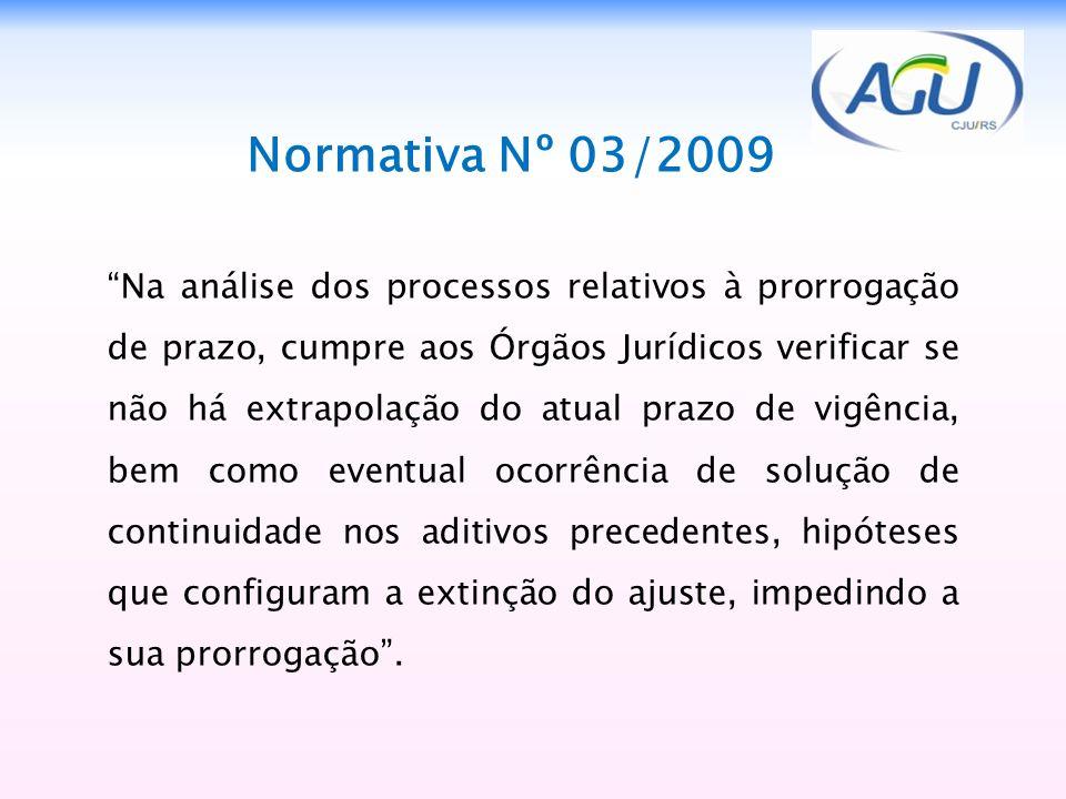 1212 Normativa Nº 03/2009.