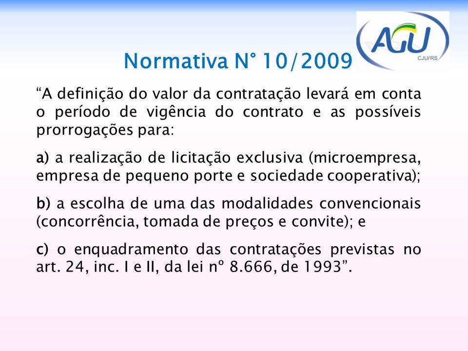 1515 Normativa N° 10/2009.