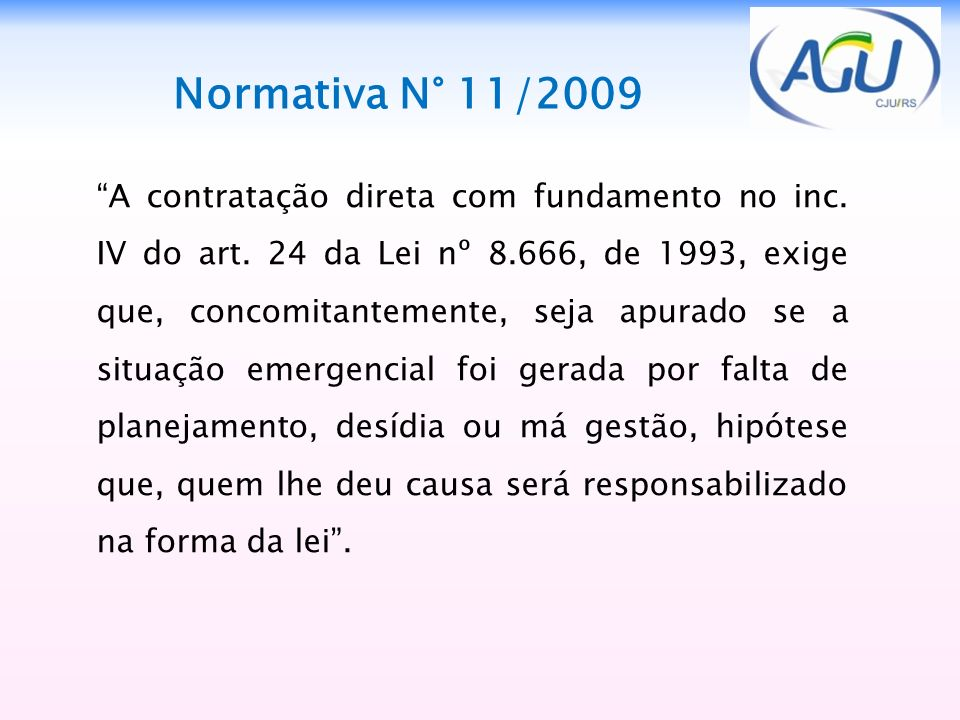 Normativa N° 11/2009