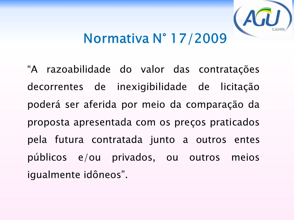 Normativa N° 17/2009