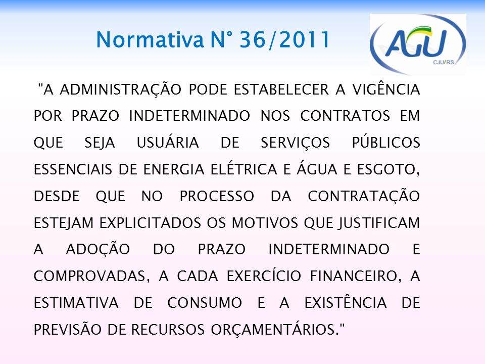 Normativa N° 36/2011