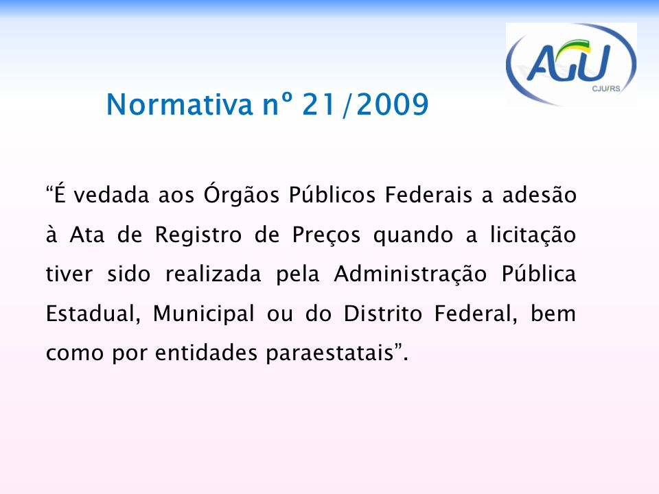 2323 Normativa nº 21/2009.