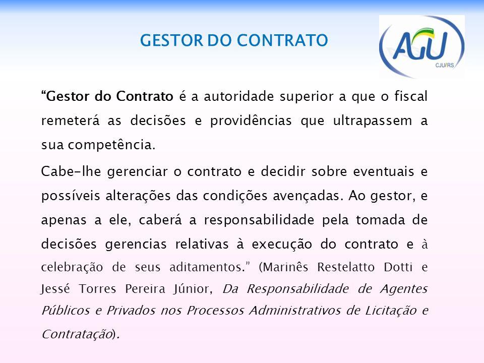 GESTOR DO CONTRATO
