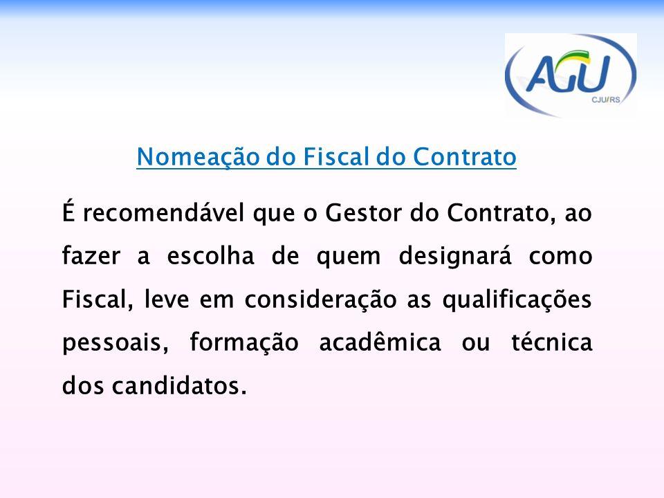 Nomeação do Fiscal do Contrato